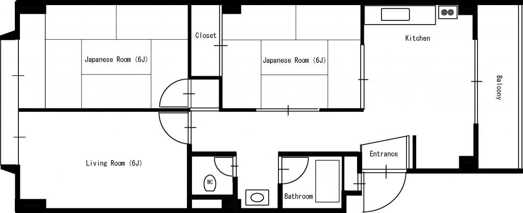 Avior Manor Floor Plan (3DK type)